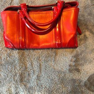 Ann Taylor Red Leather handbag